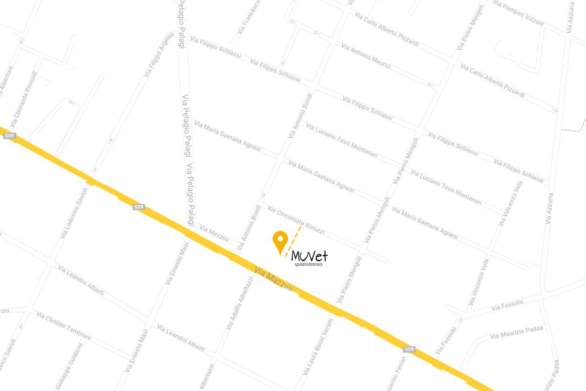 mappa spaziodanza muvet dove siamo